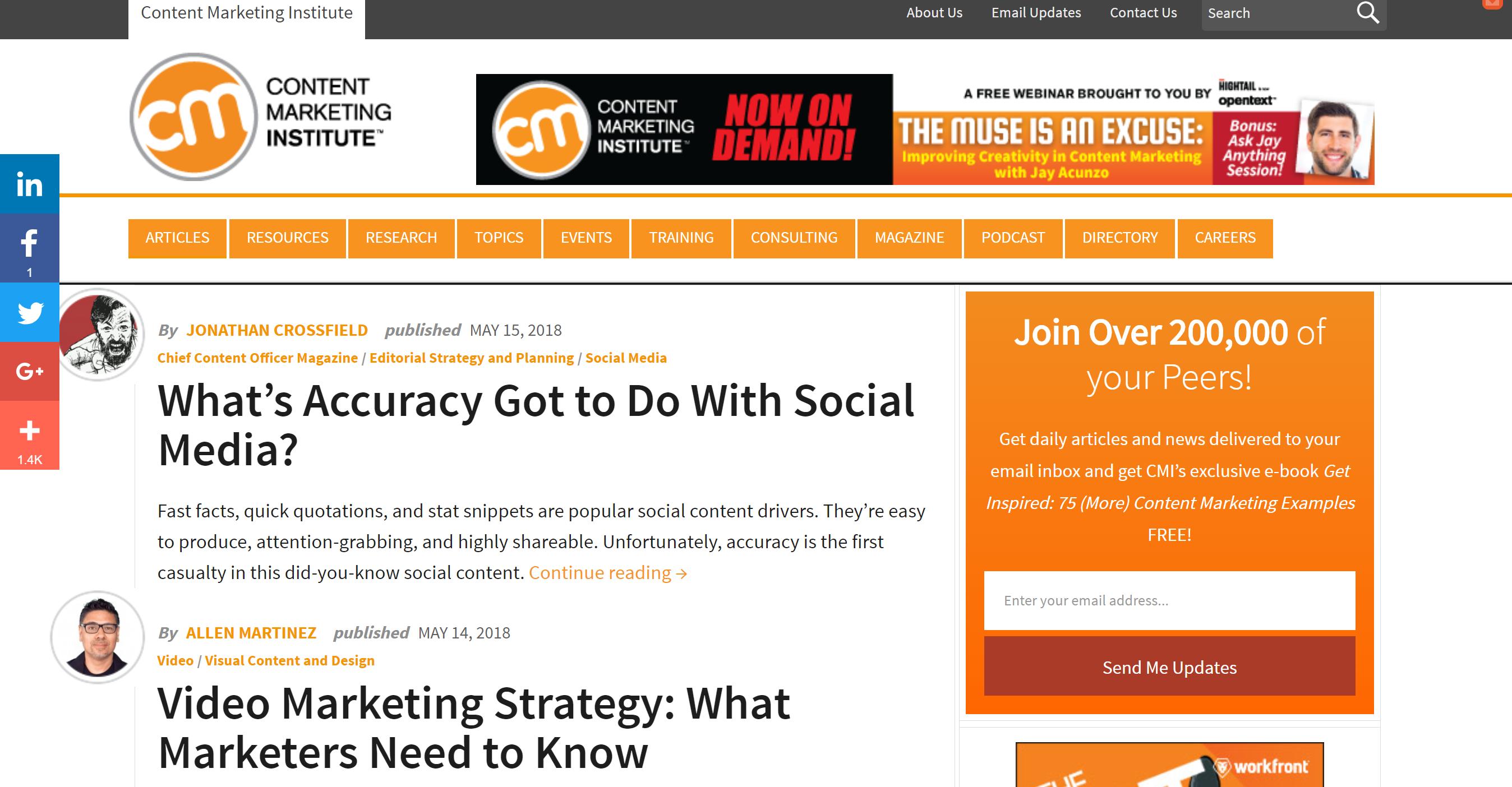 Content Marketing Institute Blog