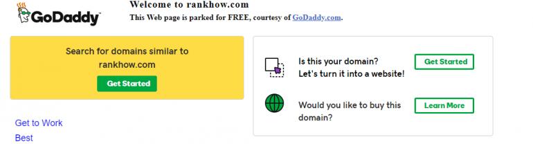 Rankhow.com screenshot